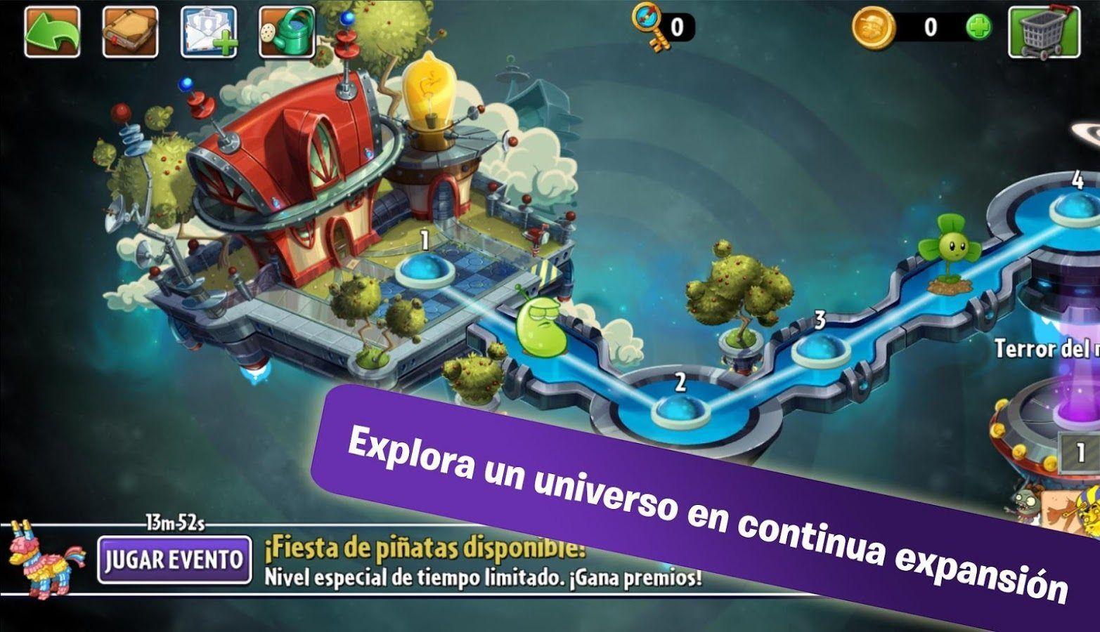 descargar plantas vs zombies 2 en espanol para android