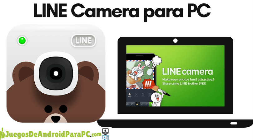 como descargar LINE Camera para computadora pc o laptop