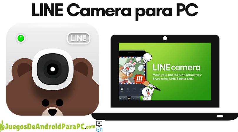 como descargar LINE Camera para computadora pc o laptop