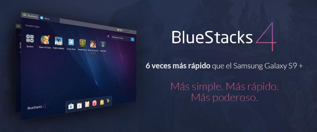 el emulador bluestacks es mucho mas rapido que el galaxy s9